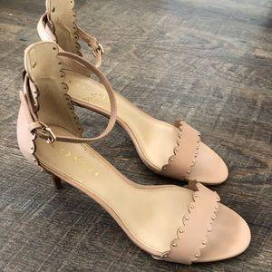 Coach heels size 8 - nude blush color -worn twice